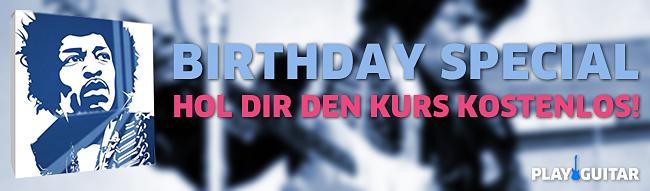 Hol dir den kostenlosen Geburtstagskurs